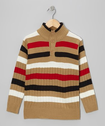 Beige Stripe Pullover - Toddler & Boys