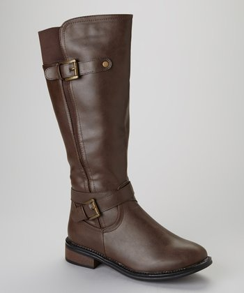 Brown Moto 4 Boot