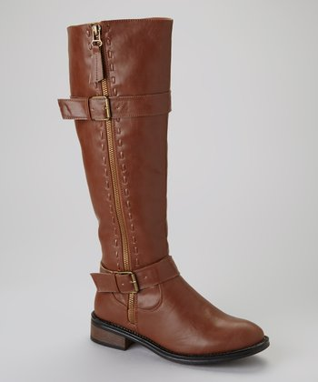 Brown Moto 5 Boot