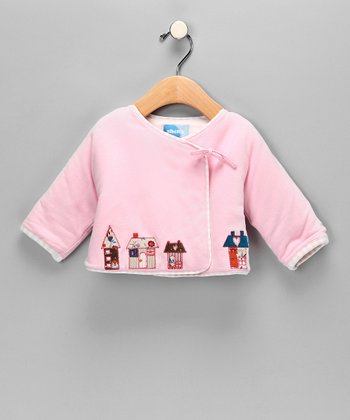 Baby Pink Reversible Wrap Jacket - Infant