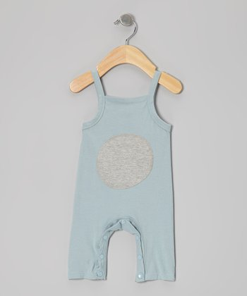 Light Blue Circle Organic Playsuit - Infant