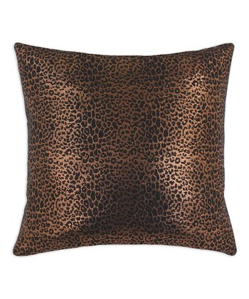 Copper Leopard Pillow