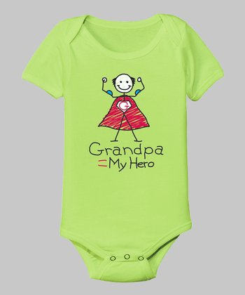 Key Lime 'Grandpa is My Hero' Bodysuit - Infant