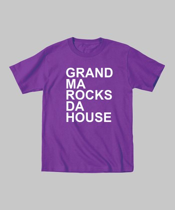 Purple 'Grandma Rocks Da House' Tee - Toddler & Kids