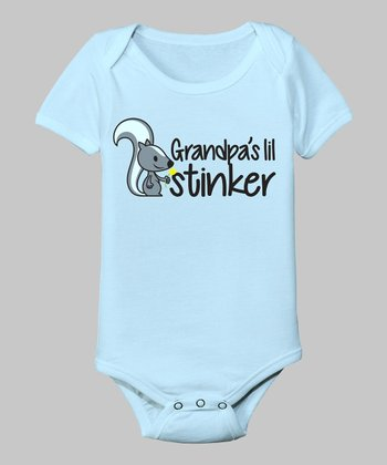 Light Blue 'Grandpa's Lil Stinker' Bodysuit - Infant