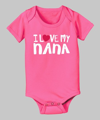 Raspberry 'I Love My Nana' Bodysuit - Infant