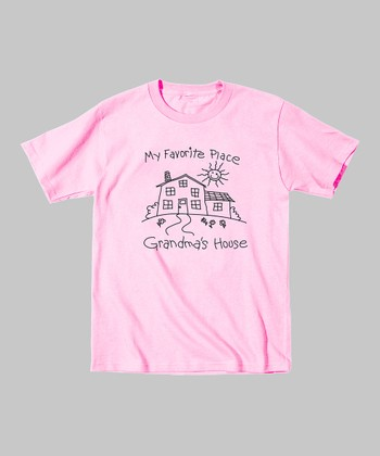 Light Pink 'My Favorite Place' Tee - Toddler & Girls