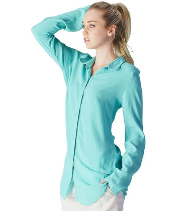 Turquoise Button-Up Tunic