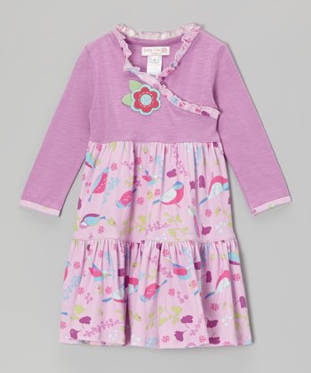 Lavender Lilac Rosa Birdie Dress - Infant & Toddler