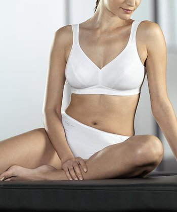 White Wireless Sports Bra - Women & Plus
