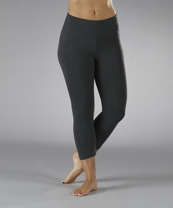 Charcoal Tummy Control Capri Leggings