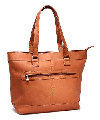 Tan Laptop Tote