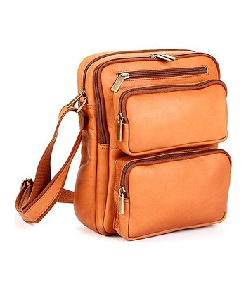 Tan iPad Large Crossbody Bag