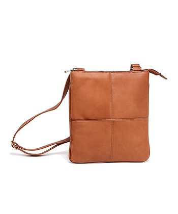 Tan iPad Crossbody Bag