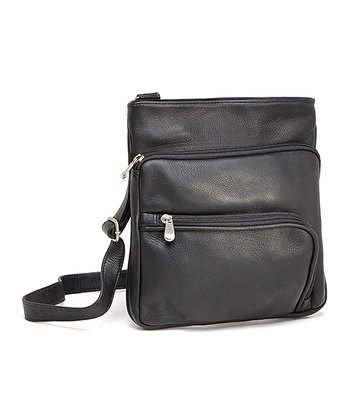 Black Double L-Zip Crossbody Bag