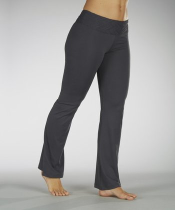 Carbon Embossed Waistband Yoga Pants