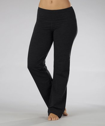 Black Fleece Yoga Pants - Women