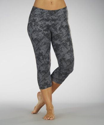 Carbon Saran Capri Leggings