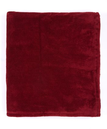 Burgundy Plush Blanket