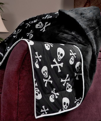 Skulls & Crossbones Cozy Plush Throw