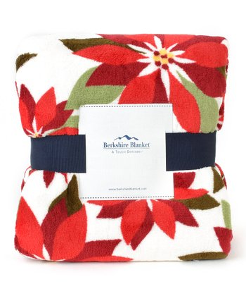 Poinsettia Throw