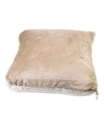 Camel Microsherpa Throw/Pillow