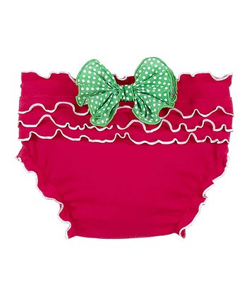 Red Ruffle Bow Bloomers