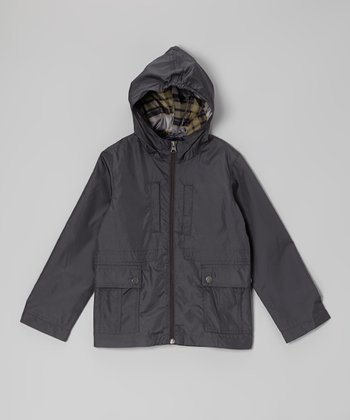 Navy Rain Jacket - Boys