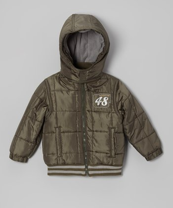 Olive 'Adventure 48' Jacket - Infant
