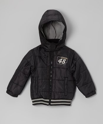 Black 'Adventure 48' Jacket - Infant