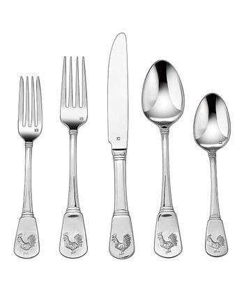 French Rooster 20-Piece Flatware Set