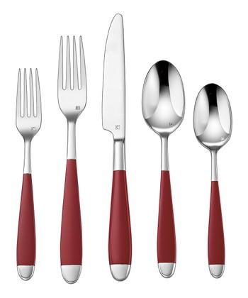 Red Beille 20-Piece Flatware Set