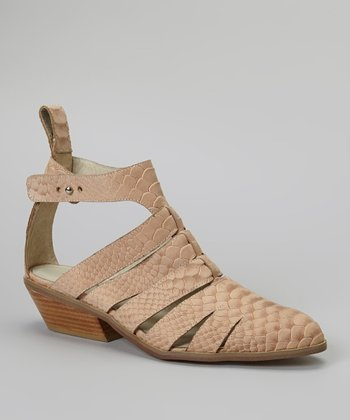 Tan Snakeskin Carolyn Shoe