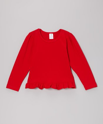 Red Ruffle Tee - Toddler & Girls