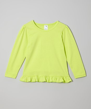 Green Ruffle Tee - Toddler