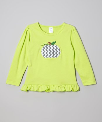 Green Pumpkin Ruffle Tee - Infant, Toddler & Girls