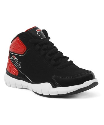 Black & Red Ultraflare 2 Hi-Top - Kids