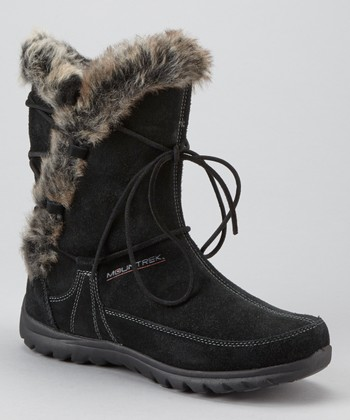 Black Suede Ellie Lodge Boot - Women