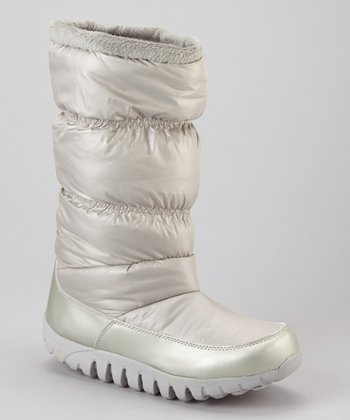 Silver Lisa Puff Boot