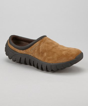 Dark Brown Suede Lucia Slip-On Shoe