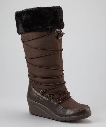 Dark Brown Plaza Cuff Boot