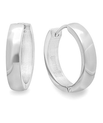 Stainless Steel Thick Hoop Earrings