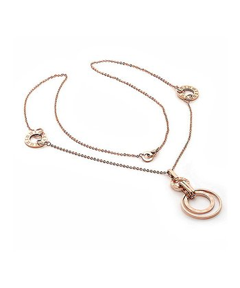 Rose Gold Hoop Pendant Necklace