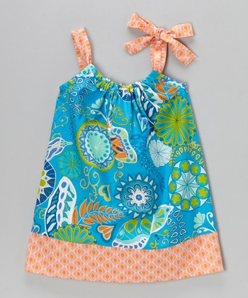 Sapphire Floral Swing Dress - Infant, Toddler & Girls