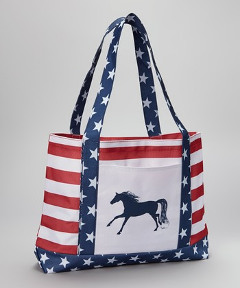 Patriotic Galloping Horse Tote