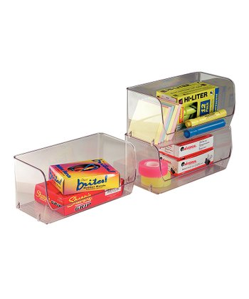 Clear Stacking Organizer Small Bin