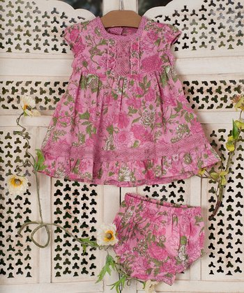 Pink Rosamund Dress & Diaper Cover - Infant
