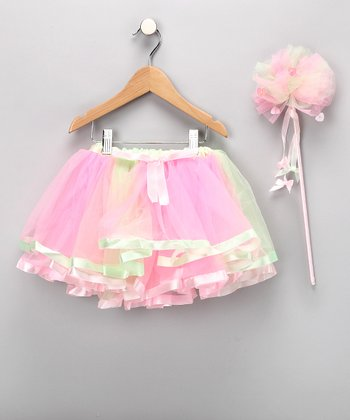 Pink Sheer Pettiskirt & Wand