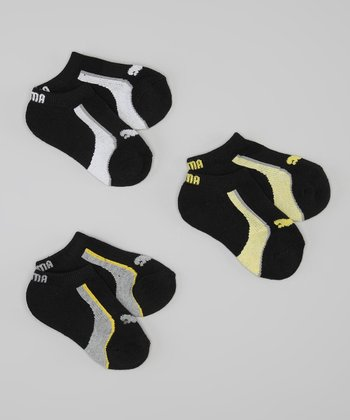 Black & Yellow Low Socks Set