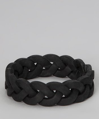 Black Braided Bangle